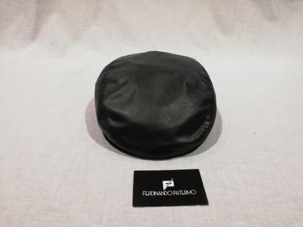 confrontare il prezzo comprare vendita calda autentica Coppola Patermo in Pelle Nappa, colore Nero, uomo donna, alta qualità  artigianale