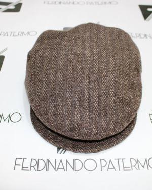 Coppola Patermo in pura Lana modello inglese, colore marrone spigato, uomo donna, cappello qualità artigianale
