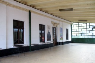 The old royal parlor, now miniature train museum