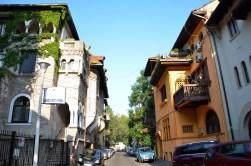 Small side street near the Academy of Economic Studies