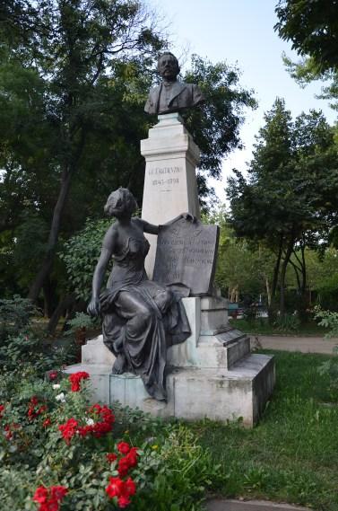 Statue dedicated to Gheorghe Cantacuzino in Grădina Icoanei