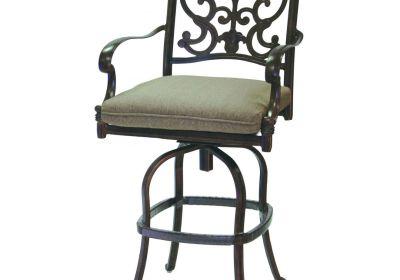 chaise et mobilier de patio extérieur en fer forgé
