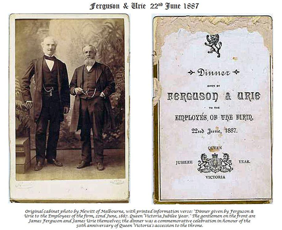 The 1887 Ferguson & Urie Company Dinner (1/2)