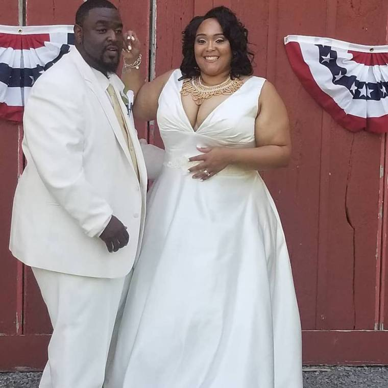 Demetrius and Rahjinah garnered many in attendance at this family weddings.