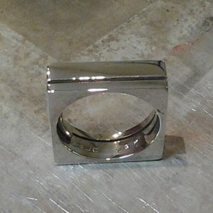 custom wedding ring in square style