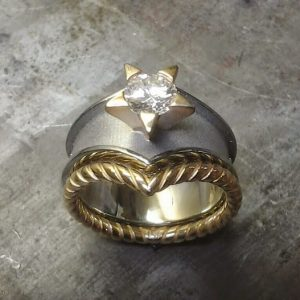 wonder woman custom designed ring top view
