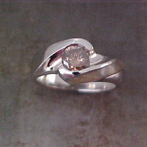 14k white gold custom ring