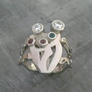 custom design family ring with birthstones