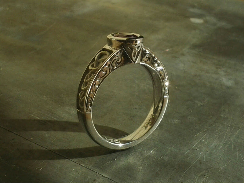 climbing knot celtic engagement ring