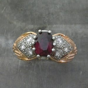 anniversary ring ruby