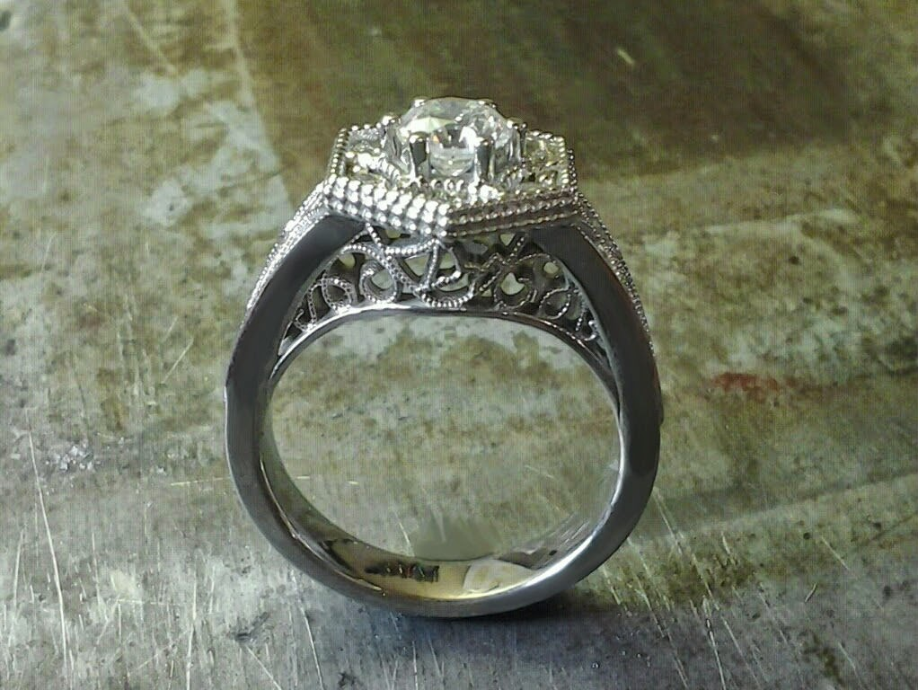 snowflake machu picchu engagement ring