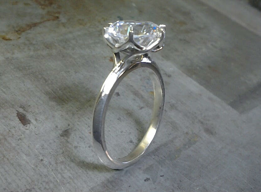bird nest engagement ring