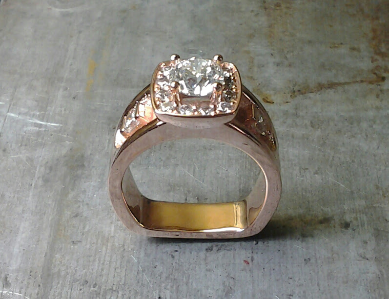 rose gold remake with customer diamonds