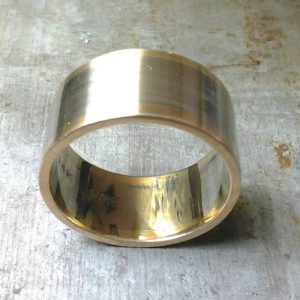 2 tone wide mens wedding band