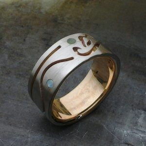 calgary and foothills symbol men's family wedding band family