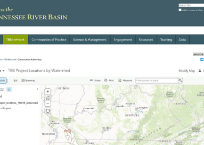 5. Direct Access on website to Interactive Basin Conservation Mapping Tool