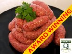 award winning beef chipolatas
