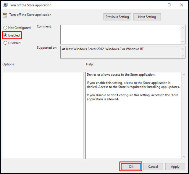 Group Policy ile Windows Mağazasına (Microsoft Store) Erişimin Engellenmesi