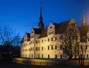 Ansicht des neu renovierten Schloss Doberlug