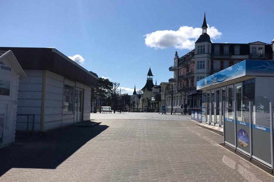 Sperrung Usedom Zinnowitz Strandvorplatz Corona
