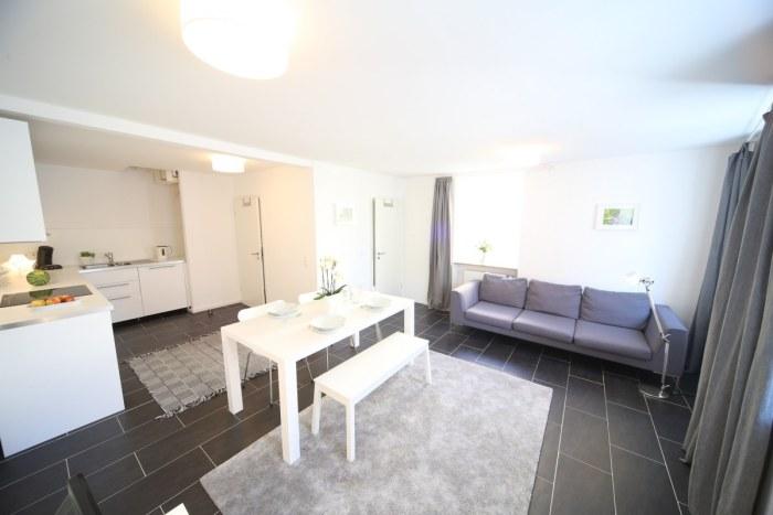 Wohn-Essbereich mit offener Wohnküche.