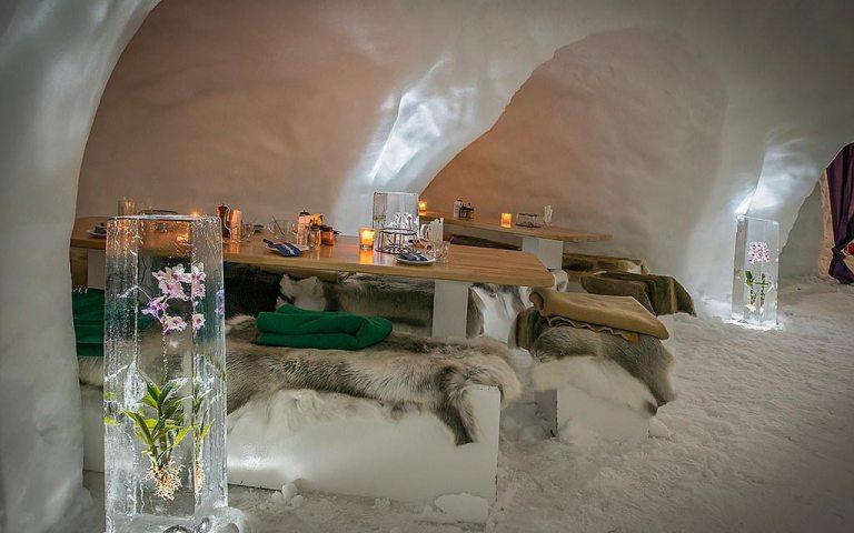 Ga fonduen in een iglo