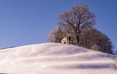 Aussichtskapelle im Winter