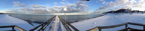 Verschneite Seebrücke Rerik