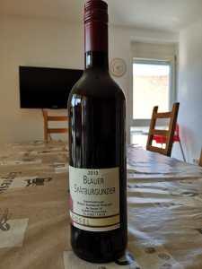Vielen Dank für das Geschenk, eine Weinflasche