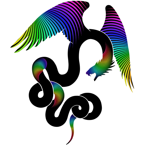 Aztec Dreams Silhouette- Feathered Serpent