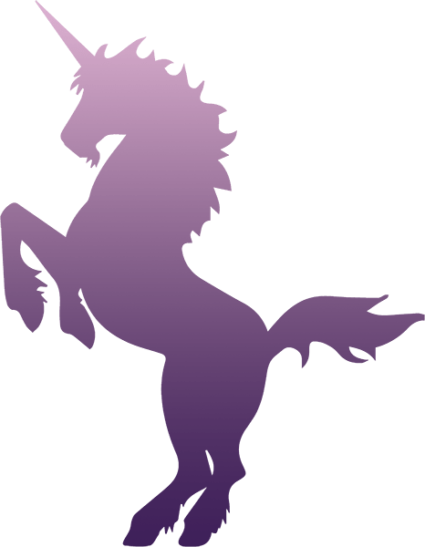 Purple Unicorn Silhouette