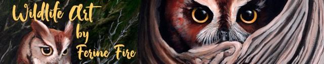 Wildlife art banner
