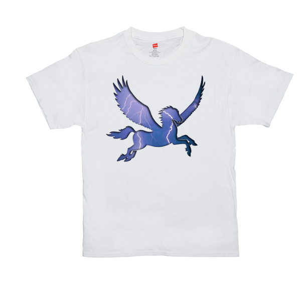 Storm Elemental Pegasus T-Shirt - white
