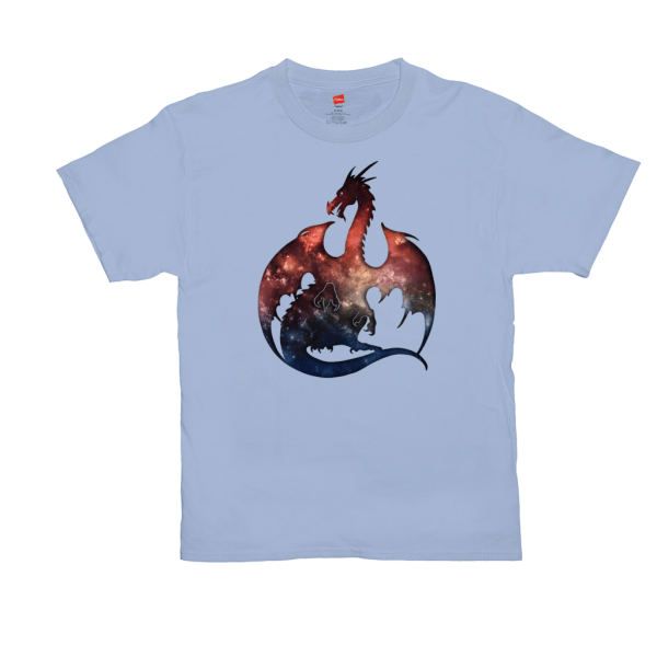 Galaxy Dragon T-Shirts - light blue