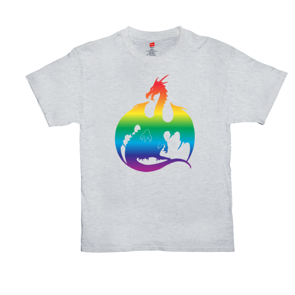 Rainbow Dragon T-Shirts - ash