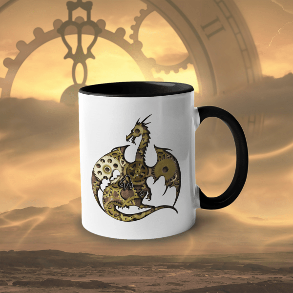 Clockwork Dragon 11oz accent mug