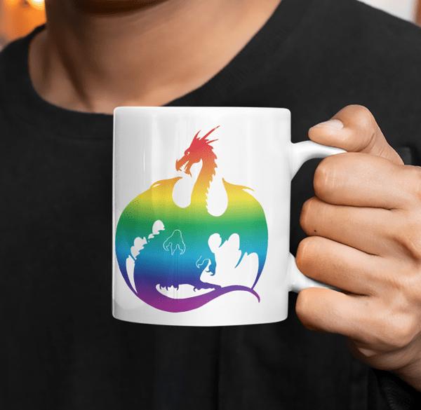 Rainbow Dragon Mug