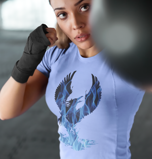 Blue Fire Phoenix T-Shirts