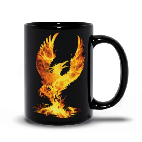 Phoenix 15oz black mug
