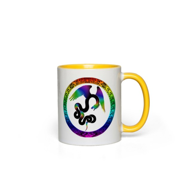 Aztec Dreams Accent Mug - yellow
