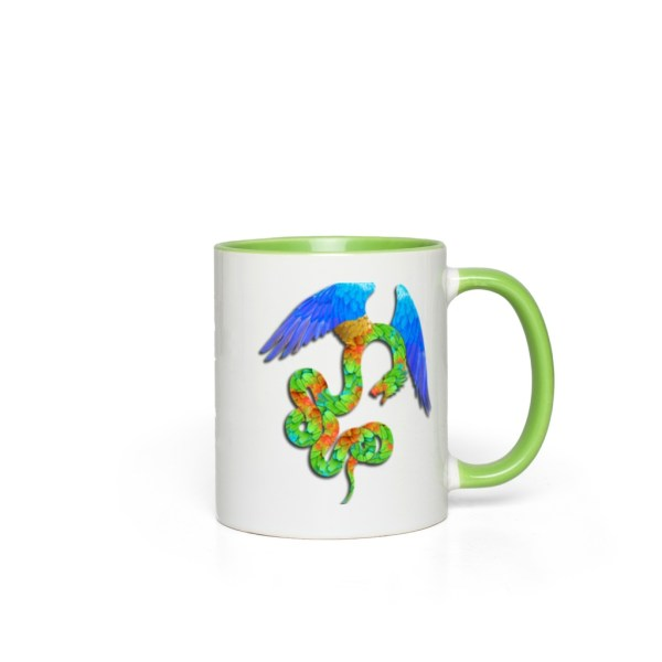 Aztec Angel Accent Mug - green