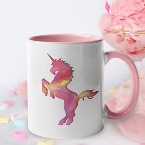 Cotton Candy Unicorn Accent Mug