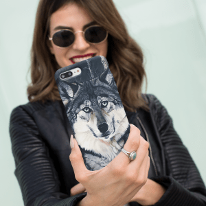 Gray Wolf Phone Case
