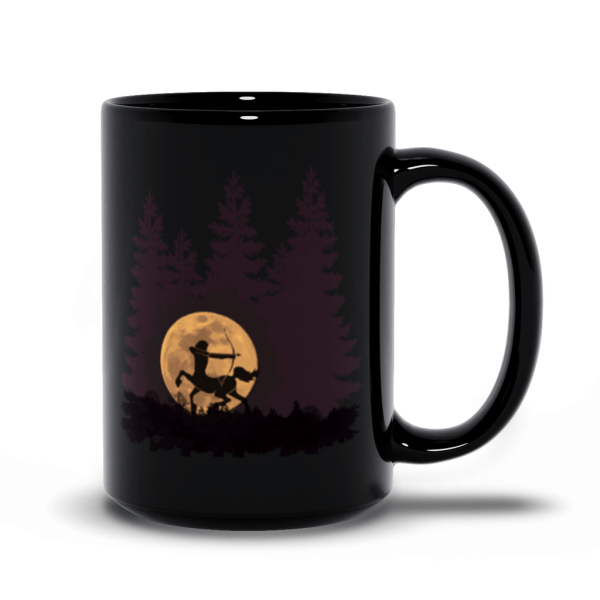 Hunter's Moon Centaur - black mug 15oz