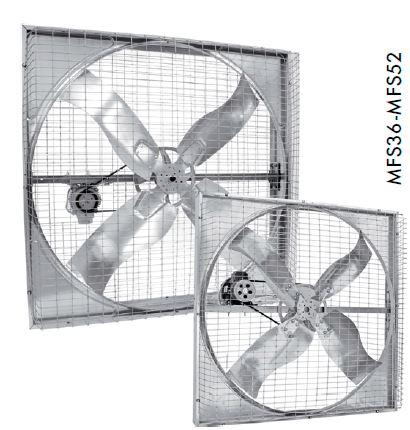 Ahır fanları kare fan