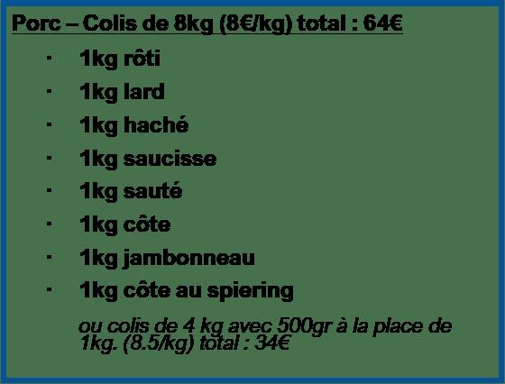 Colis Porc