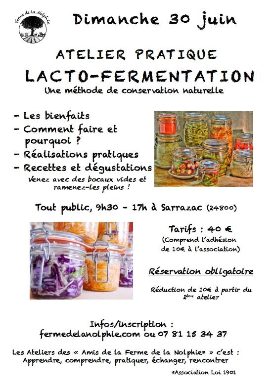 Atelier Lactofermentation 30/06/19