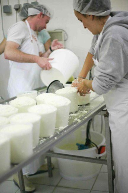 fabrication des fromages, bien tasser