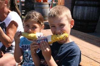 Dégustation de maïs - La Ferme Genest