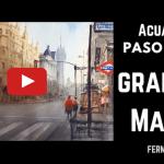 Acuarela Gran Vía Madrid